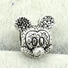 mouse 1pcs Silver CZ European Charm Beads Fit  925 Necklace Bracelet Chain hot