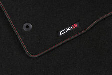 Genuine Mazda CX3 Carpet Floor Mats Luxury with Red Letter