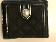 Burberry women black quilted wallet