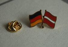 Freundschaftspin Deutschland Lettland Pin Button Badge Anstecker Europa