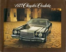 Chrysler Cordoba 1977 USA Market Sales Brochure 318-V8 400-V8