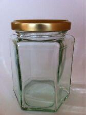 12oz   X 84  HEX GLASS JAM JAR - JAM, PICKLES, CHUTNEY, PRESERVES - HEXAGONAL
