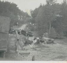 Foto Russland-Feldzug Panzer/Tank Flussdurchquerung  2.WK   (Z845)
