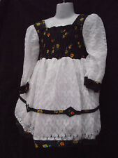 BNWT Girls Sz 1 Gorgeous Black and White Lace Full Skirt Party Occasion Dress