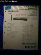 Sony service manual DVP s335 s336 s345 s535d s735d CD/DVD Player (#6674)