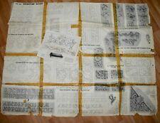 Vintage Leather Craft Belt Wallet Wrist Strap Patterns & Instructions Floral A-Z