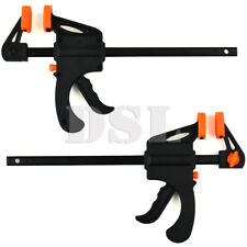 2 x 103mm Jaws Ratchet Trigger/G/Speed Clamps Woodworking Carpentry DIY Home UK