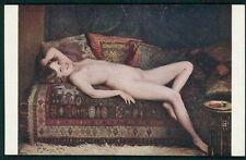 art Marais Milton nude smiling woman original c1910s Salon de Paris postcard