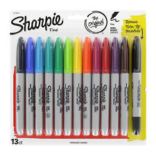 Sharpie Permanent Markers, Fine Point, Assorted Colors, 13 Count