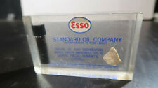 Esso Standard Oil Company Lucite Desk Paperweight Crude Oil and Reservior Rock