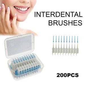 200Pcs Dental Floss Picks Teeth Toothpicks Stick Oral Care Tooth Heathy Clean LK