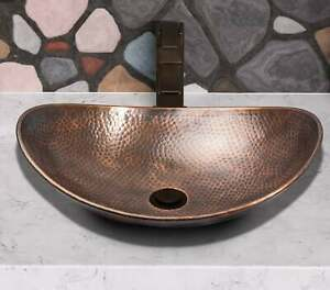 copper Moroccan vessel sink hammered gold color , Art Basin Round Bowl Vanity ,