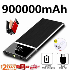 Ultra-thin Portable 900000mAh Huge Capacity External Battery  Power Bank Charger
