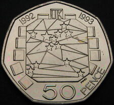 GREAT BRITAIN 50 Pence 1992 - European Community - aUNC - 328 ¤