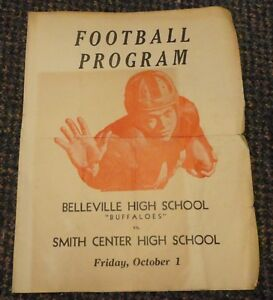 Oct 1 1948 Kansas High School football program Belleville vs Smith Center