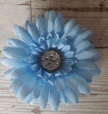Light Blue Blingy Sparkly Gerbera Dash Flower With a Gem For VW Beetle Bug
