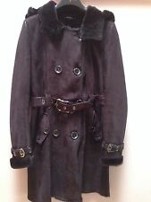 Leather Shearling Jacket Size L