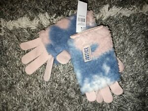 Justice cozy sherpa gloves BRAND NEW ONE SIze blue/pink