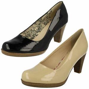 Ladies Rieker Tribunal sin Cordones Tacón Zapatos 41160