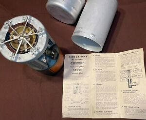 1945 Coleman 520 military stove with canister and instructions