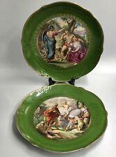 Superbe paire de plats décor scènes à l'antique PORCELAINE PARIS OU LIMOGES 1900