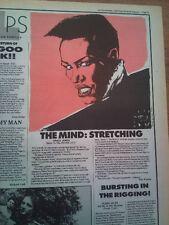 GRACE JONES slave To the Rythm 1985 UK ARTICLE / clipping