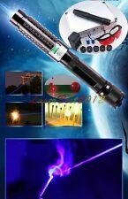 Bx9 450nm Adjustable Focus Blue Laser Pointer Burn Matches Light Cigarettes