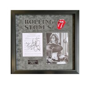 Charlie Watts signed - Rolling Stones - AFTAL  OnlineCOA