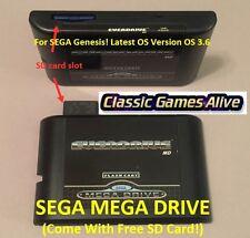 SEGA Genesis EverDrive MD v2 EDMD Cartridge, Mega Drive (for US EU& JP 16bit MD)