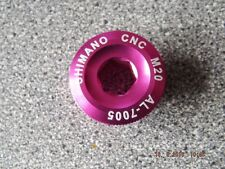 SHIMANO CNC ANODISED CRANK BOLT AL7005 M20 20MM PINK NEW  MTB XC