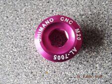 SHIMANO CNC ANODISED CRANK BOLT AL7005 M20 20MM PINK NEW  MTB XC