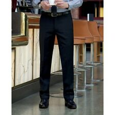 Brook Taverner 8387D Avalino Suit Trousers, Black, Size 34R, Tailored Fit