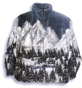 Black Mountain Cabin Fever Ultra Plush Fleece Jacket  (XS - 2X) New