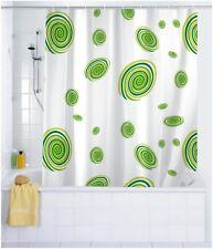 Rideau de douche cercles vert 180x200 cm avec anneaux Wenko cloison idée cadeau