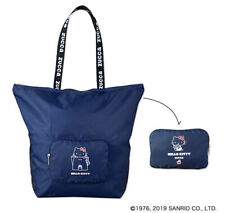 Zucca Cartoon Navy Hello Kitty Canvas Tote Shopper Shoulder Library School Bag