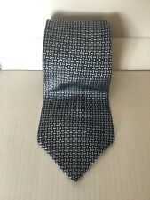 Van Heusen Cravate 100% soie made in USA Bleu Gris Basket Weave Classique Mariage Costume