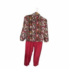 Vtg EVR ROUSSO APPAREL ALL SILK EQUESTRIAN HORSE Jacket pants set size small