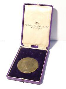 1911 George V Coronation Mayor Middlebrook of Leeds to Myres Brz Medal 77mm #247