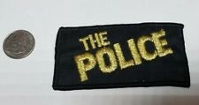 The Police Embroidered Patch Vintage 1980s