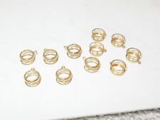 11 Pieces 14KT Goldfill 'Easy Set' Pendant Settings for 7mm Round Stones