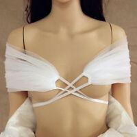 Wedding Bolero White Ivory Tulle Top Bridal Shoulder Strap Wrap For Dresses 2019