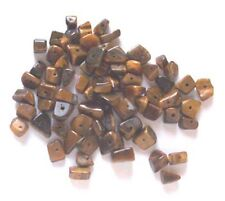 20g of tiger's eye gem chips - drilled tumblechip beads for jewellery and crafts