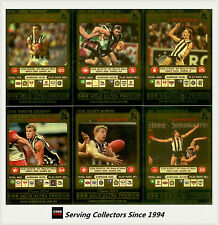 2001 Teamcoach Trading Cards Gold Parallel Team Set Collingwood (6 )