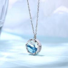 Fashion Mermaid Tail 925 Silver Necklace Pendant Women Wedding Jewlery Gift