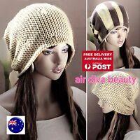 Women Lady Winter Autumn Stripe Ski Skull Warm Knit Beanie Fashion Hats Cap Gift