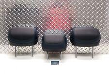 15-17 CHRYSLER 200 200S REAR BACK SEAT HEADREST HEAD RESTS BLACK & BLUE LEATHER