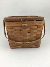 Longaberger 1987 Vintage Remembrance Basket Older Darker