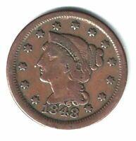 1848 BRAIDED HAIR U.S /LARGE CENT