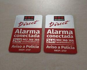DOS CARTELES ALARMA SECURITAS