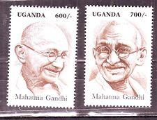 Uganda(Africa)-Gandhi 600 /- & 700 /- Set of 2 Diff. MNH Stamps #G27